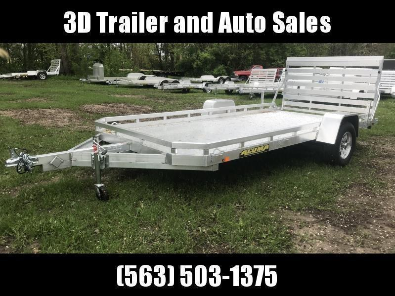 "2021 Aluma 78"" x 14' Straight Gate Aluminum Open Utility Trailer"