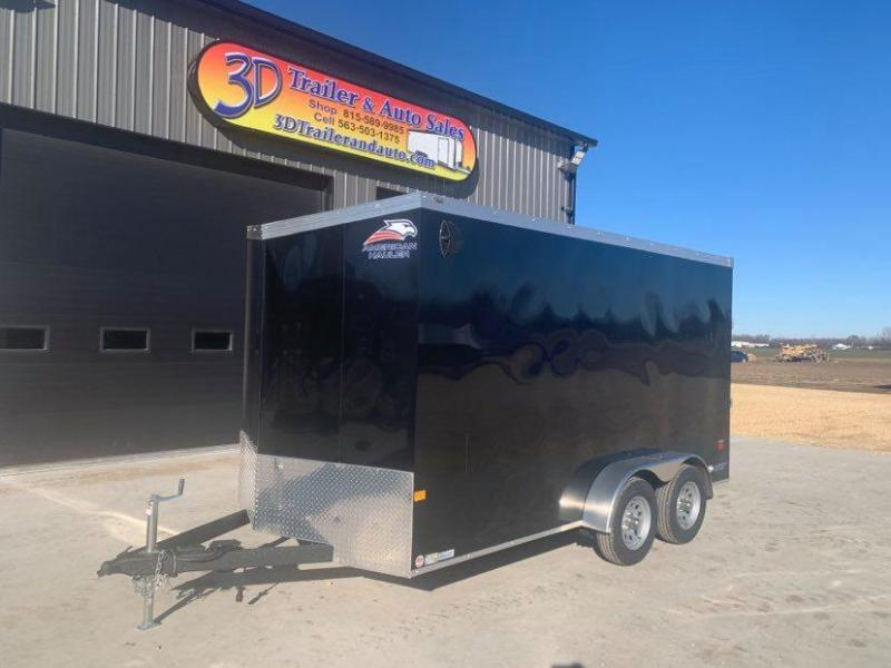 2021 American Hauler 7' x 14' x 7' 7k Night Hawk UTV PACKAGE Enclosed Trailer