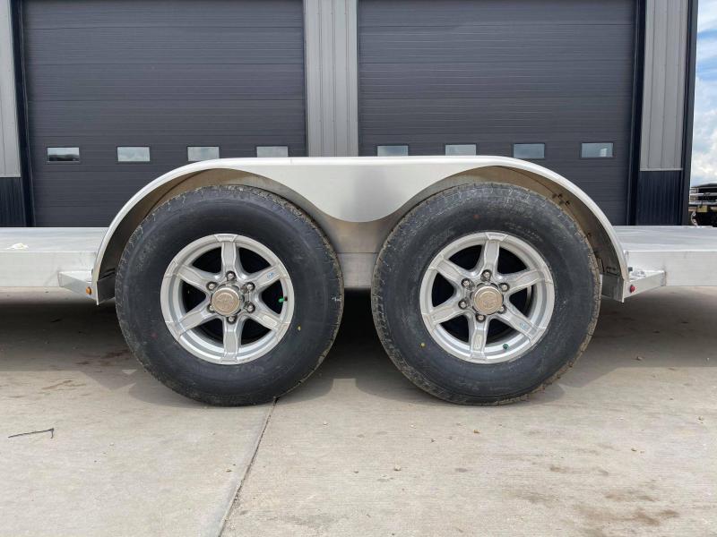 "2022 Aluma 82"" x 20' 7K GVWR All Aluminum Car / Racing Trailer w/ Slideout Ramps"