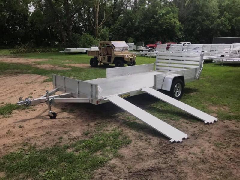 """2021 Aluma 81"""" x 14' SR Bifold Gate Aluminum Open Utility Trailer"""