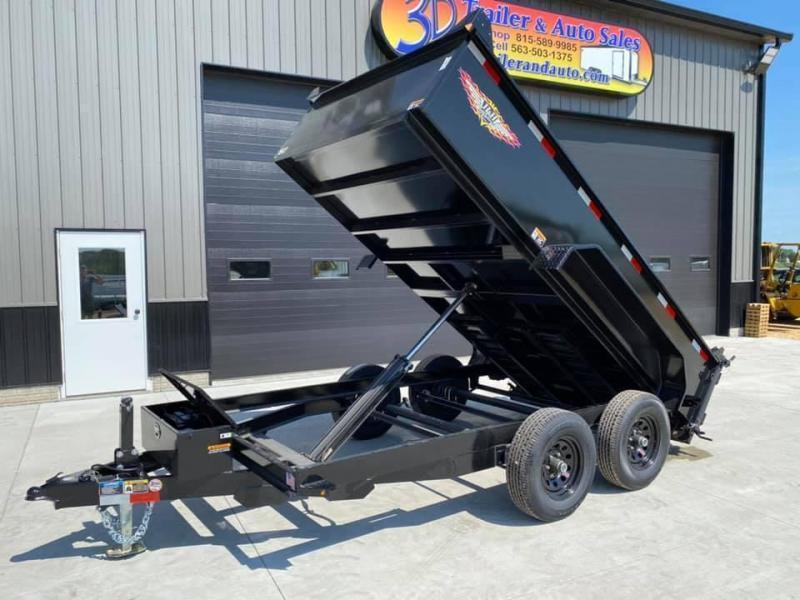 """2021 H & H 76"""" x 12' 10K Dump Bed Trailer"""