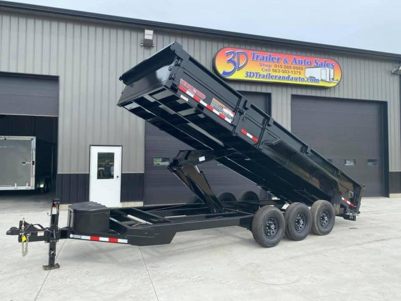 "2020 Midsota HV SERIES 82"" X 20' 21000LB GVWR VERSA DUMP BED TRAILER"