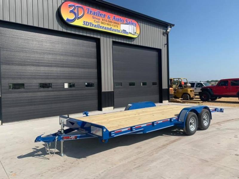 2021 Heartland 20' 7K GVWR Flat Bed Car Trailer