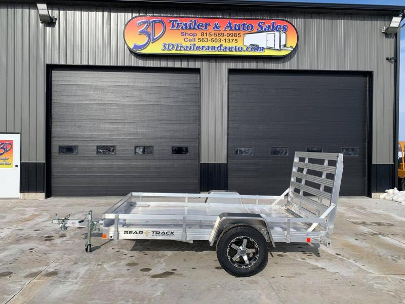 "2021 Bear Track 76"" X 10' All Aluminum Utility Trailer w/ Straight Gate"