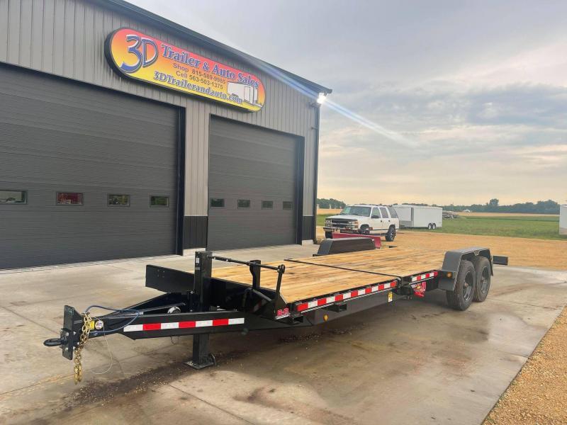 2022 B-B 24' 20K SPLIT TILT Equipment Trailer 8' STATIONARY 16' TILT