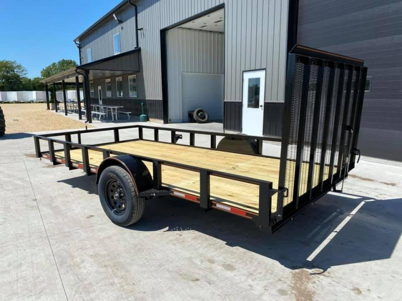 2021 Chase Trailers 6.5' x 14' Open Utility Trailer w/ 4'  Assisted Gate