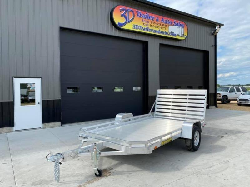 "2022 Aluma 77"" x 12' H Straight Gate Aluminum Open Utility Trailer"