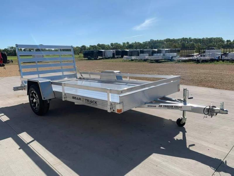 "2021 Bear Track 76"" X 12' All Aluminum Utility Trailer w/ Straight Gate"
