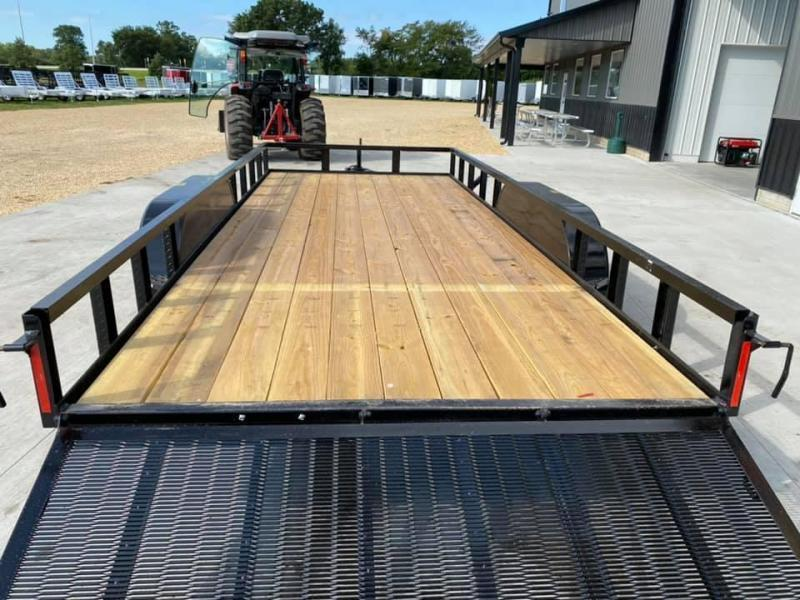 2021 Chase Trailers 7' x 18' w/ 4' Assisted Gate Open Utility Trailer
