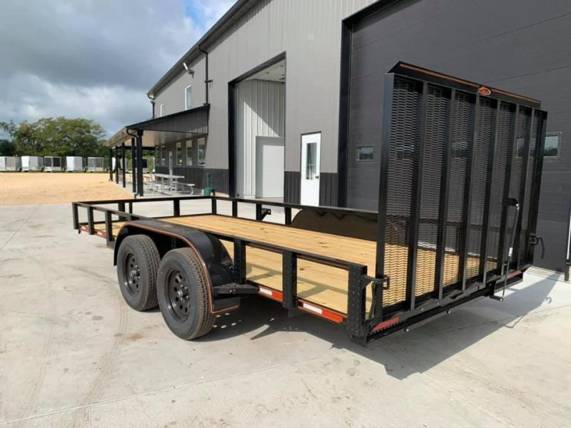 2021 Chase Trailers 7' x 16' w/ 4' Assisted Gate Open Utility Trailer
