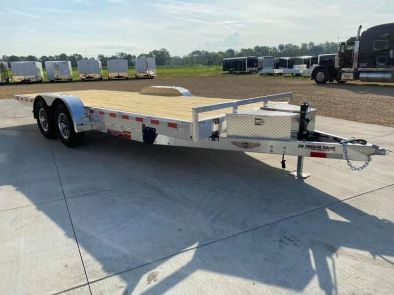 "2022 H & H 82"" X 20' Aluminum 10k Speedloader EXA Power Tiltbed Car / Racing Trailer"