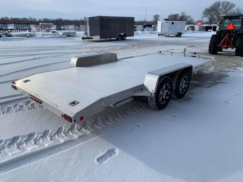 2021 Bear Track 18' 7K GVWR All Aluminum Car / Racing Trailer w/ Slideout Ramps