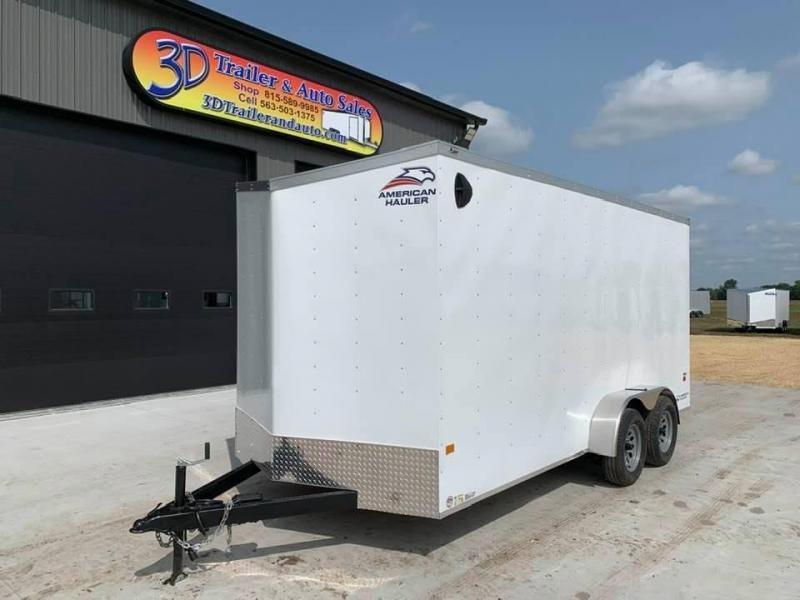 2021 American Hauler 7' x 16' x 7' 7k Arrow Deluxe UTV PACKAGE Enclosed Trailer