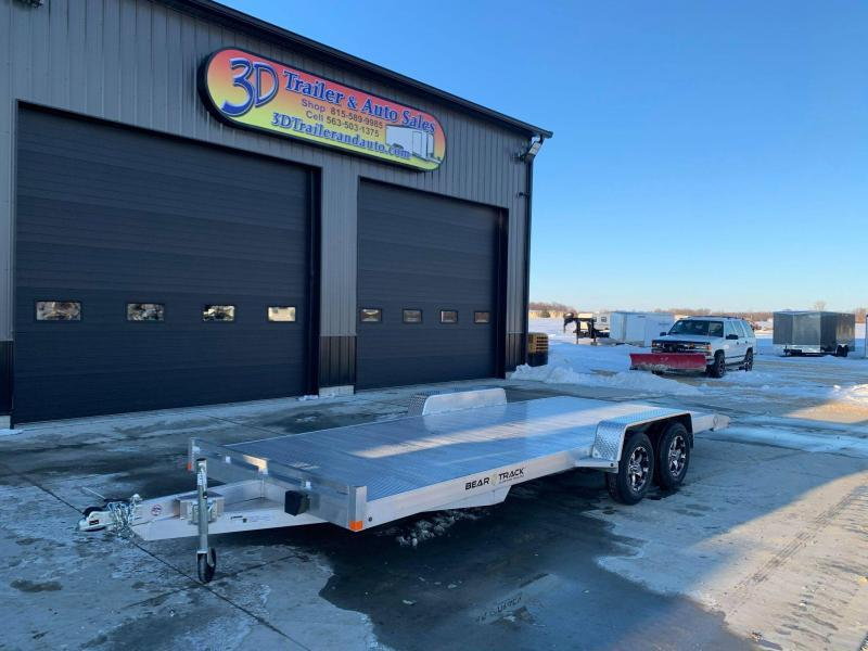 2021 Bear Track 20' 7K GVWR All Aluminum Car / Racing Trailer w/ Slideout Ramps