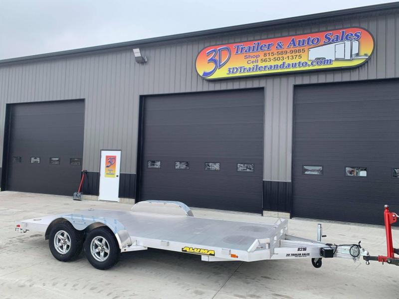 "2022 Aluma 82"" x 16' 7K GVWR All Aluminum Car / Racing Trailer w/ Slideout Ramps"