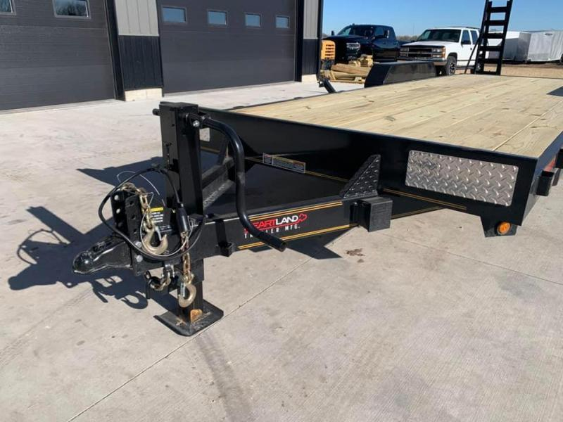 2021 Heartland 22' 14K Heavy Duty Equipment Trailer w/ Stand Up Ramps
