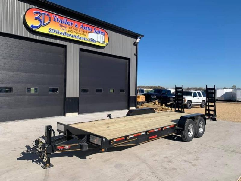 2021 Heartland 22' 14K Heavy Duty Equipment Trailer w/ Stand Up Ramps
