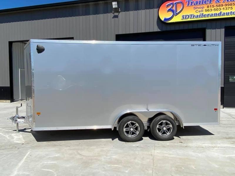 "2021 CARGO PRO 7.5' X 16' X 6'10"" Stealth Ramp Door Extra Tall Aluminum Enclosed Cargo Trailer"