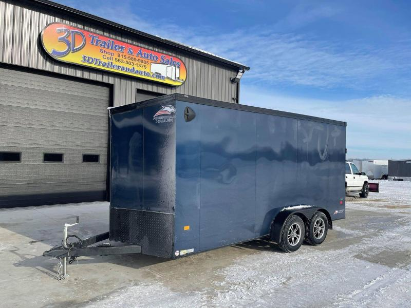 2021 American Hauler 7' x 16' x 7' 7k Night Hawk UTV PACKAGE Enclosed Trailer