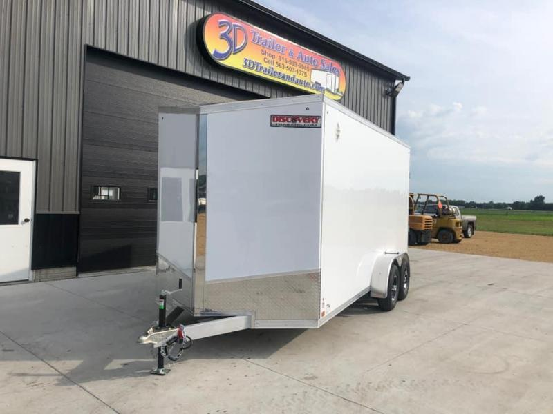 2022 Discovery 7' x 16' x 7'  Aluminum UTV PKG Enclosed Trailer w/ Ramp