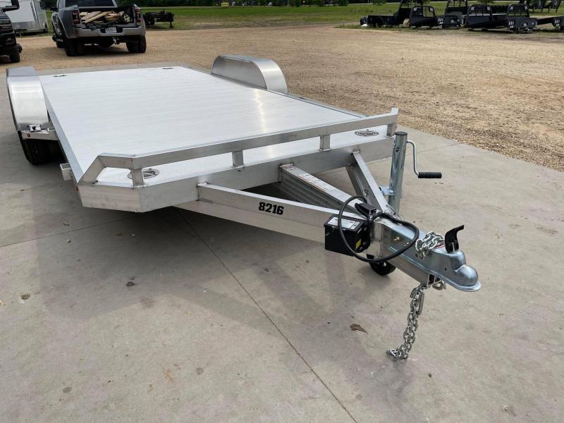 "2022 Aluma 82"" x 16' 7K GVWR All Aluminum Car / Racing Trailer w/ Slideout Ramps"