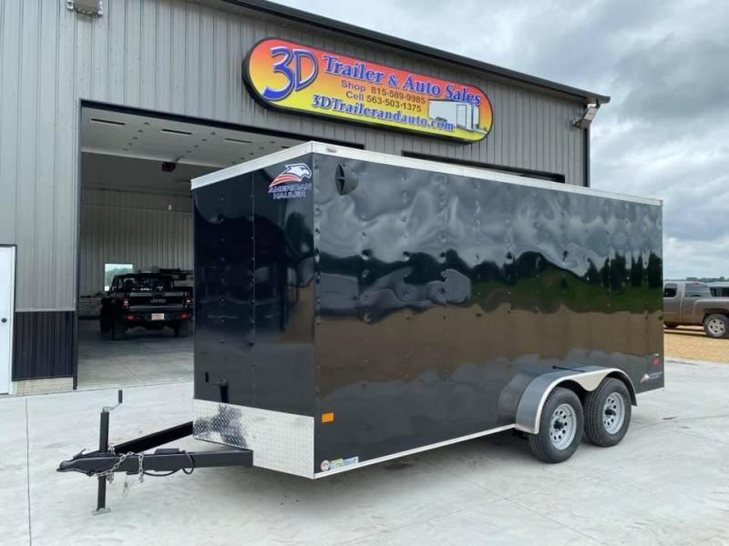 2020 American Hauler 7' x 16' x 7' 7k Arrow Deluxe UTV PACKAGE Enclosed Trailer