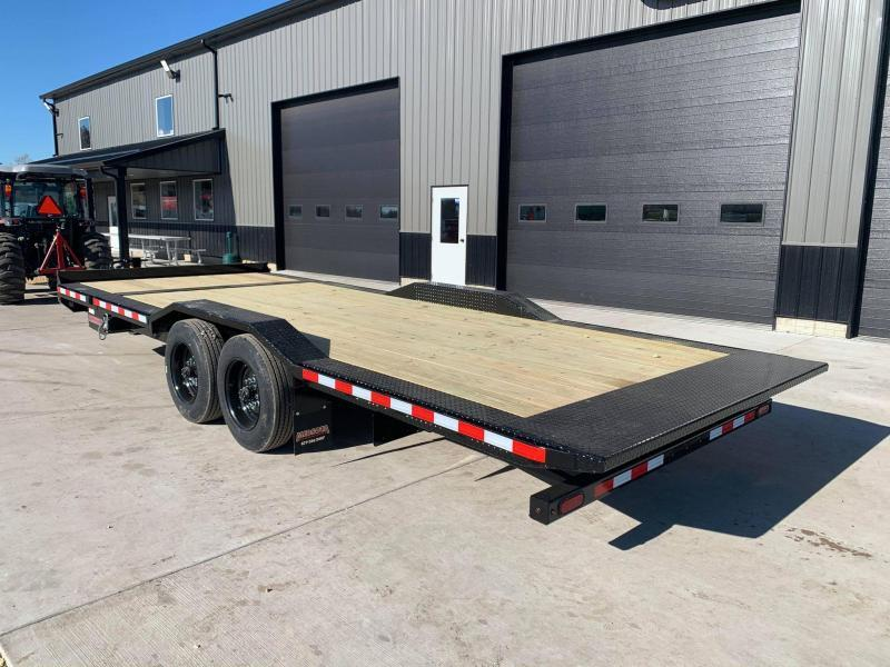 "2021 Midsota TBWB 102"" x 22' 17600LB GVWR Wide Body Drive Over Fenders Tilt Bed Equipment Trailer"