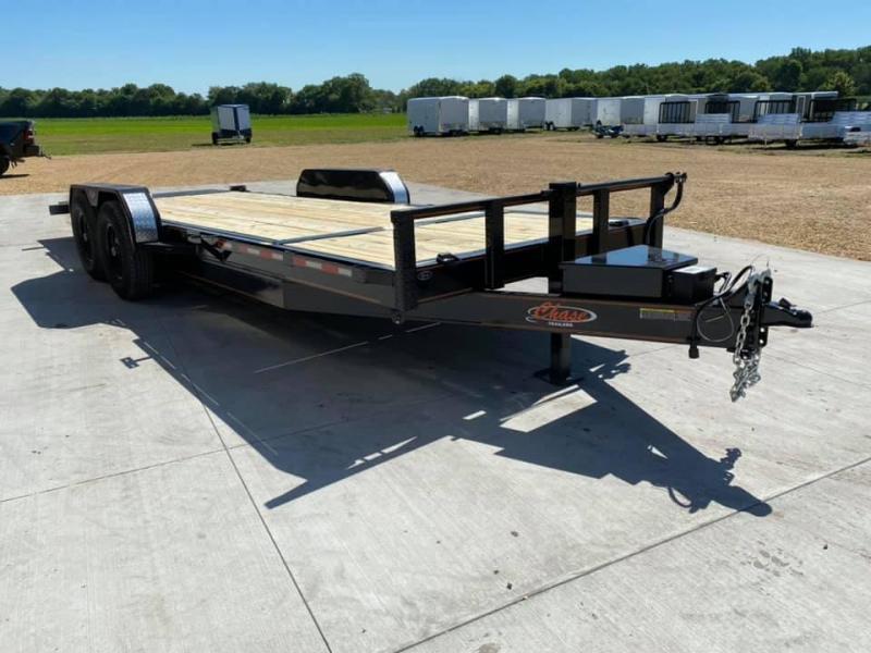 2021 Chase Trailers 22' 14K Split Deck Tilt Bed Equipment Trailer