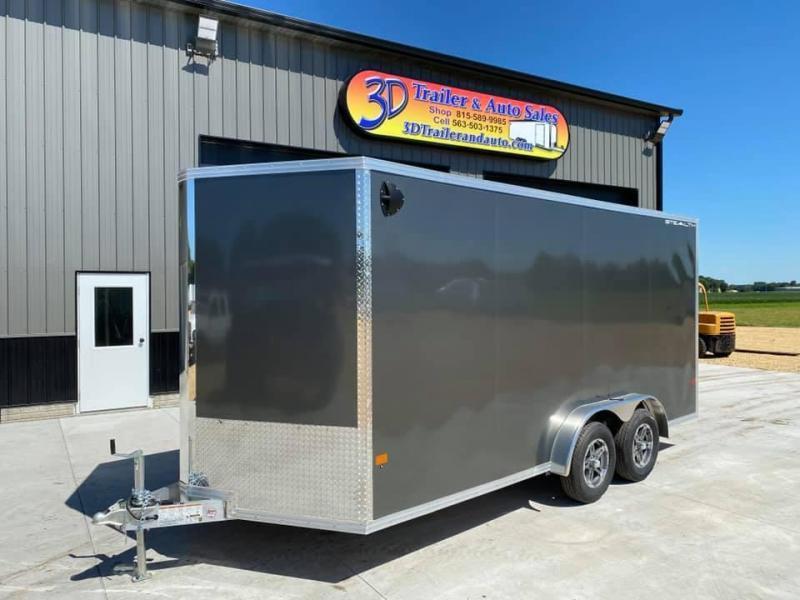 "2022 CARGO PRO 7.5' X 16' X 6'9"" Stealth Ramp Door Extra Tall Aluminum Enclosed Cargo Trailer"