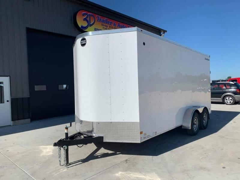 2021 Wells Cargo 7' x 16' x 7' Fast Track Deluxe Wedge Front UTV Enclosed Cargo Trailer