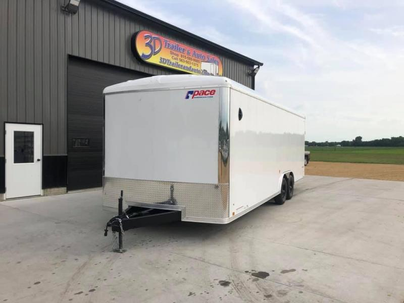2021 Pace American 8.5' x 24' x 7' 10K GVW Cargo Sport Extra Tall PREMIUM Enclosed Trailer
