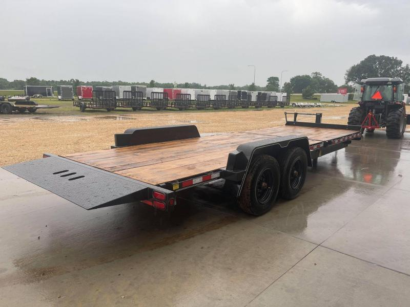 2022 B-B 22' 20K SPLIT TILT Equipment Trailer 6' STATIONARY 16' TILT