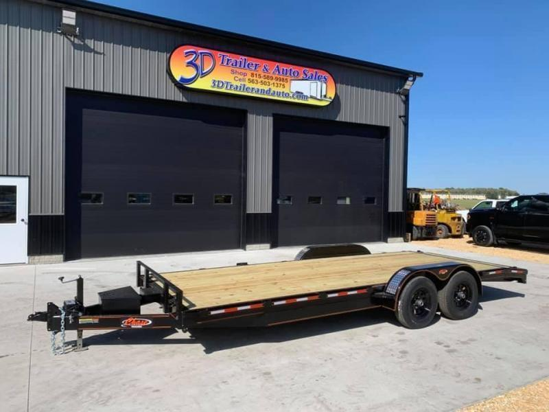 2021 Chase Trailers 22' 10K Loaded Flatbed Car Trailer