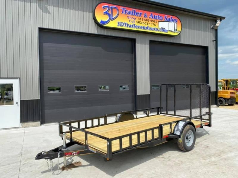 2020 Heartland 7' x 14' ATV TRAILER Front Side Load Ramps & 4' Gate Open Utility Trailer