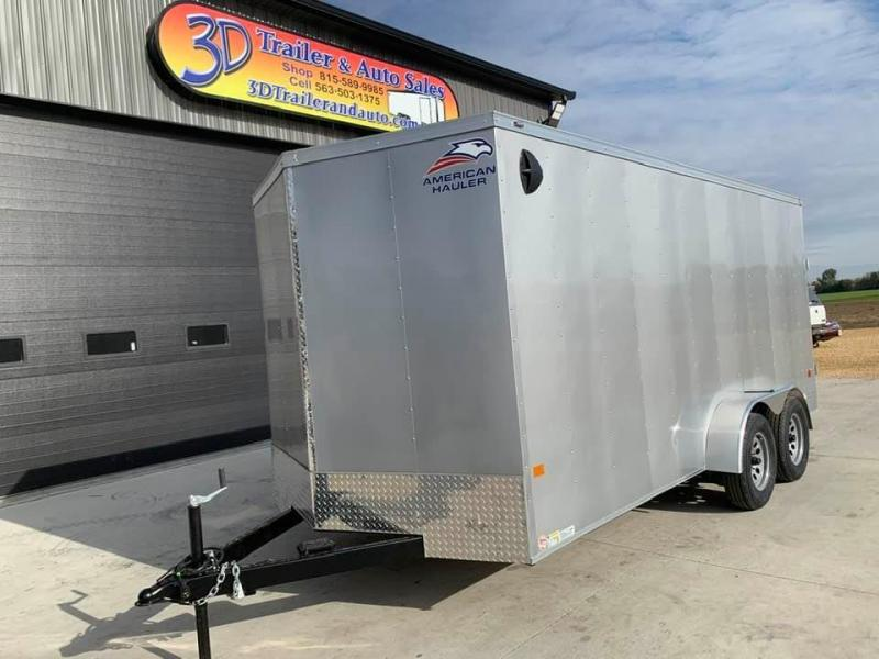 2021 American Hauler 7' x 16' x 6'6 7k Arrow Deluxe UTV PACKAGE Enclosed Trailer