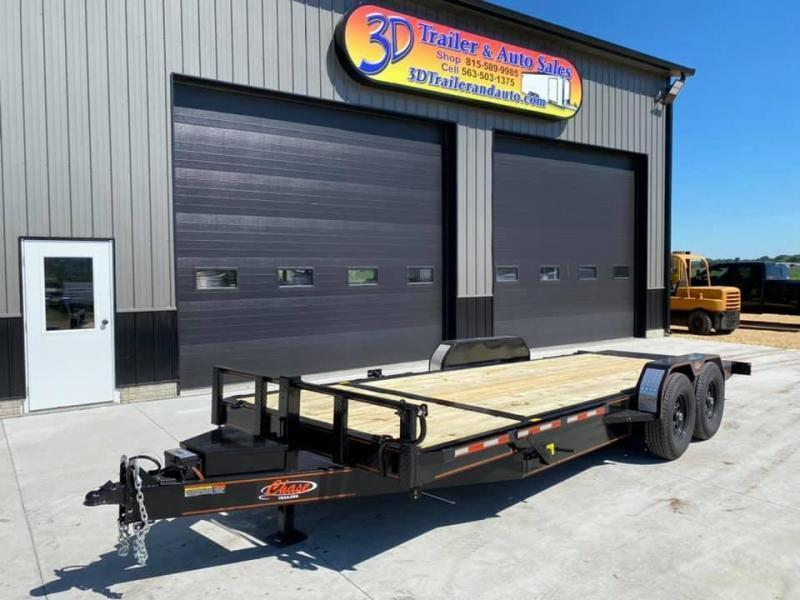 2021 Chase Trailers 22' 14K Split Deck Tilt Bed Equipment Trailer