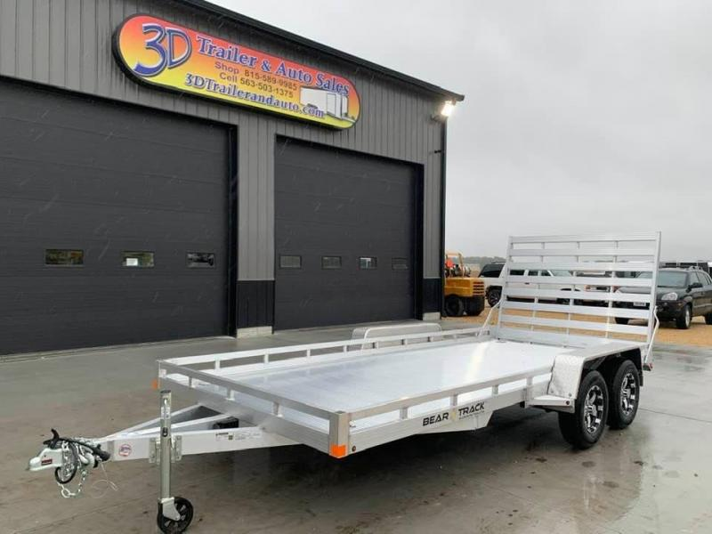 2021 Bear Track 81 X 16 7k All Aluminum HD Tandem Axle Utility Utility Trailer