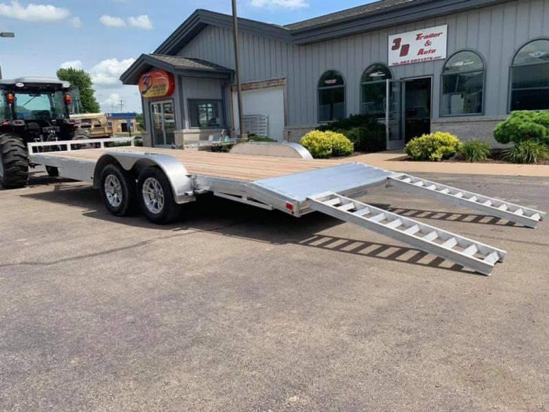 "2019 H & H 82"" x 20' 7k Aluminum Flatbed Car Trailer"