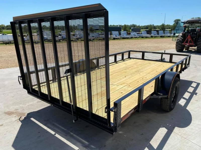 2022 Chase Trailers 7' x 14' Open Utility Trailer w/ 4'  Assisted Gate