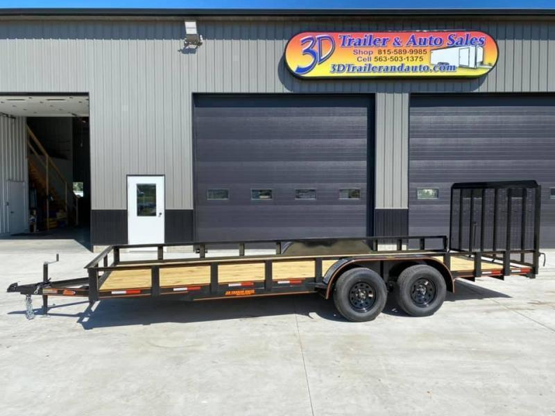 2020 Chase Trailers 7' x 20' w/ 4' Assisted Gate Open Utility Trailer