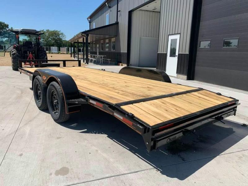 2022 Chase Trailers 18' 7K Loaded Flatbed Car Trailer