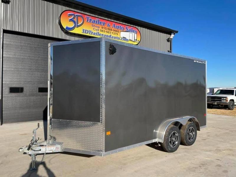"2022 CargoPro 7.5' x 14' x 6'10"" Stealth Extra Tall Aluminum Cargo Enclosed Trailer w/ Ramp Door"