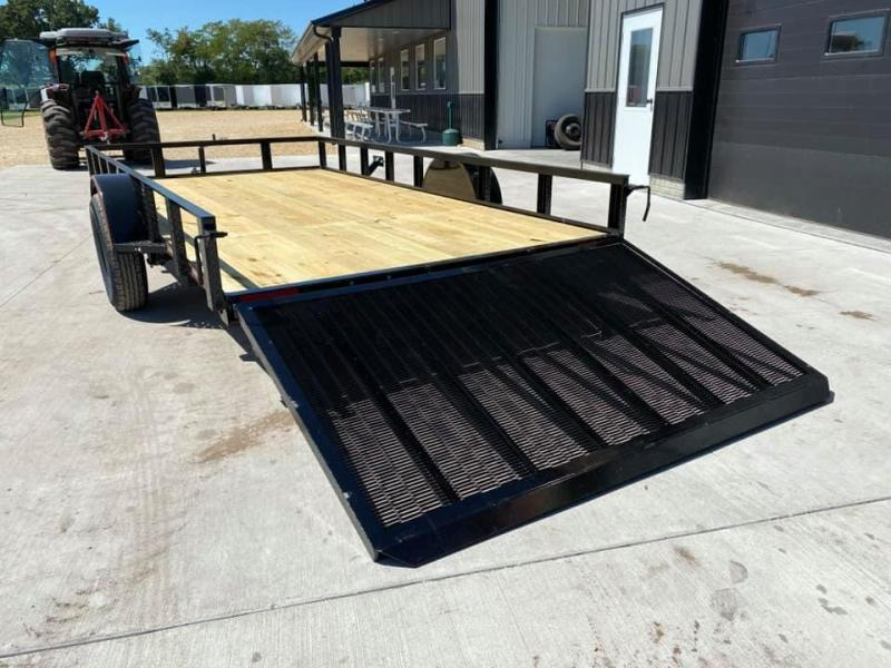 2021 Chase Trailers 7' x 14' Open Utility Trailer w/ 4'  Assisted Gate