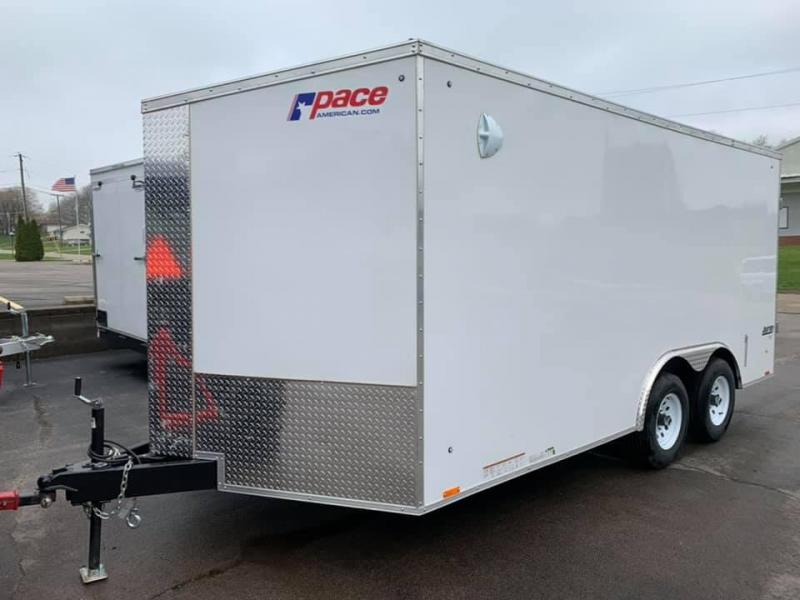 2021 Pace American 8.5' x 16' x 6'6 Journey SE Extra Tall Enclosed Trailer