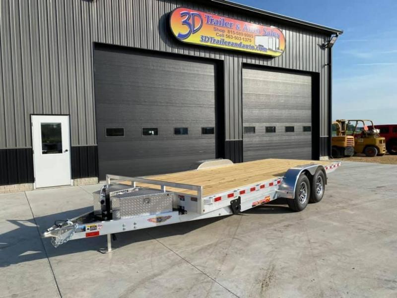 "2021 H & H 82"" X 20' Aluminum 10k Speedloader EXA Power Tiltbed Car / Racing Trailer"