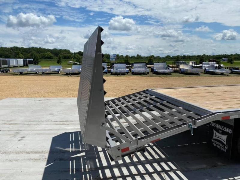 2020 Travalong 27' Gooseneck Deckover 24K GVWR w/ Full Width Monster Ramps