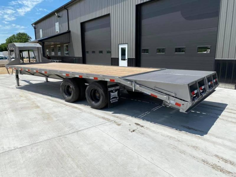 2020 Travalong 27' Gooseneck Deckover 24K GVWR w/ Full Width Monster Ramps