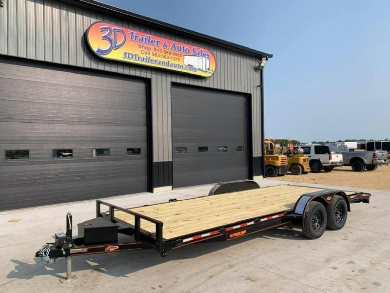 2021 Chase Trailers 20' 7K Loaded Flatbed Car Trailer