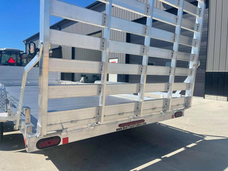 2022 Bear Track 81 X 16 7k All Aluminum HD Tandem Axle Utility Utility Trailer