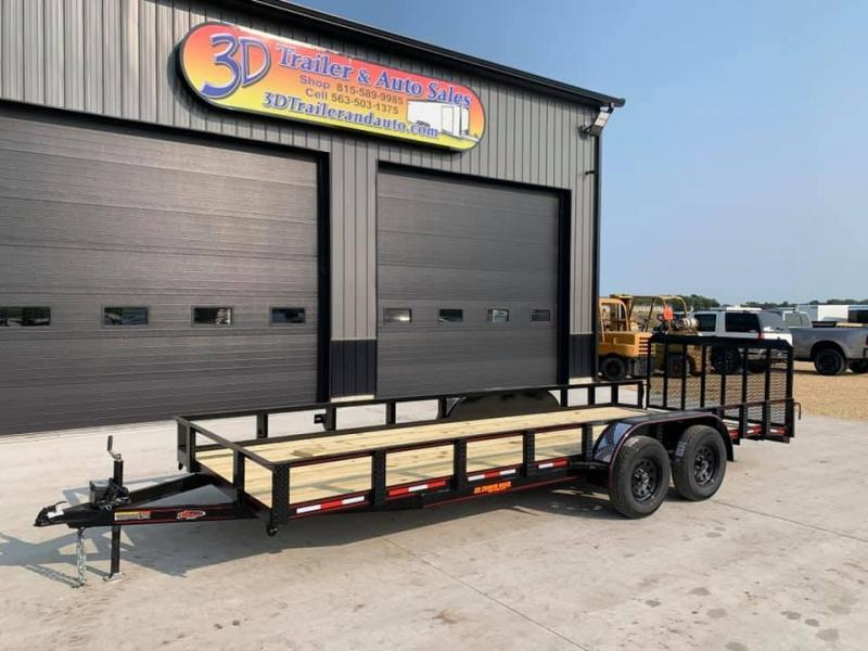 2021 Chase Trailers 6.5 x 20' w/ 3'  Gate Open Utility Trailer w/ 2' Dovetail